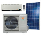 Off grid solar air conditioner / heat pump, split