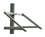 "Solartech side of pole mount with 35"" rails, fits"