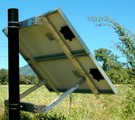 IronRidge side of pole, for 2x1 PV panels 80W with