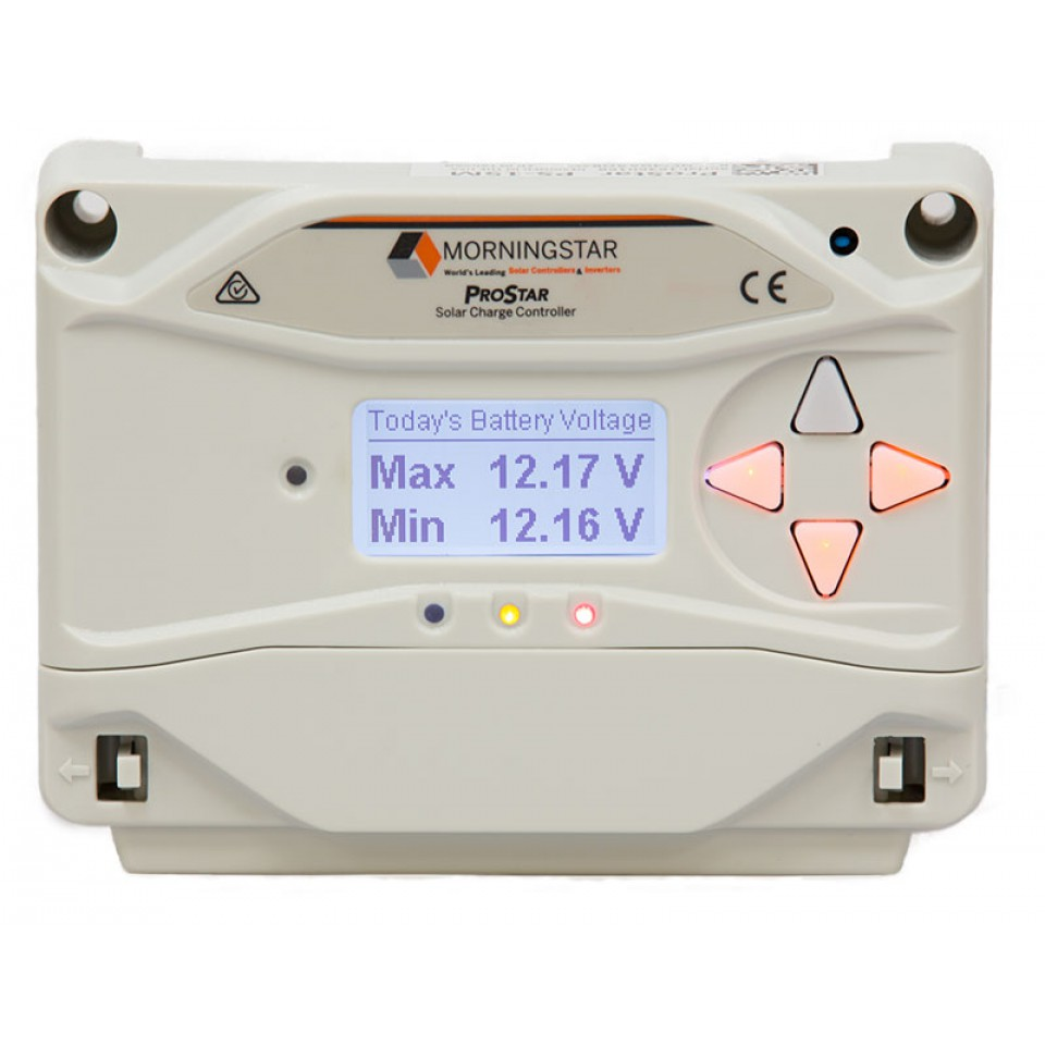 Morningstar Prostar PWM 30A charge controller, 12/