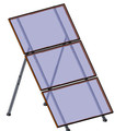 Ground/roof mount for 3x1 PV panels 60 or 72 cells