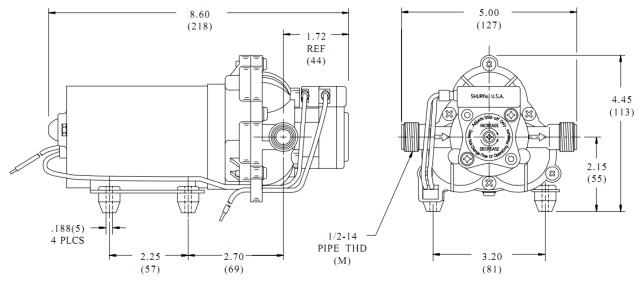SHURflo 2088-443-144 Solar water pump Diaphragm pump