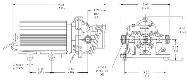 SHURflo 2088-514-145 Solar water pump Diaphragm pump