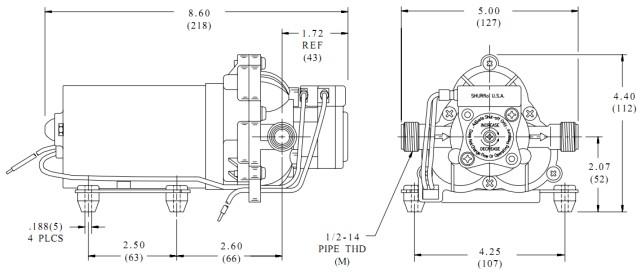 SHURflo 2088-594-154 Solar water pump Diaphragm pump