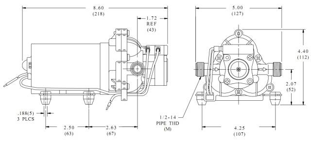 SHURflo 2088-474-144 Solar water pump Diaphragm pump