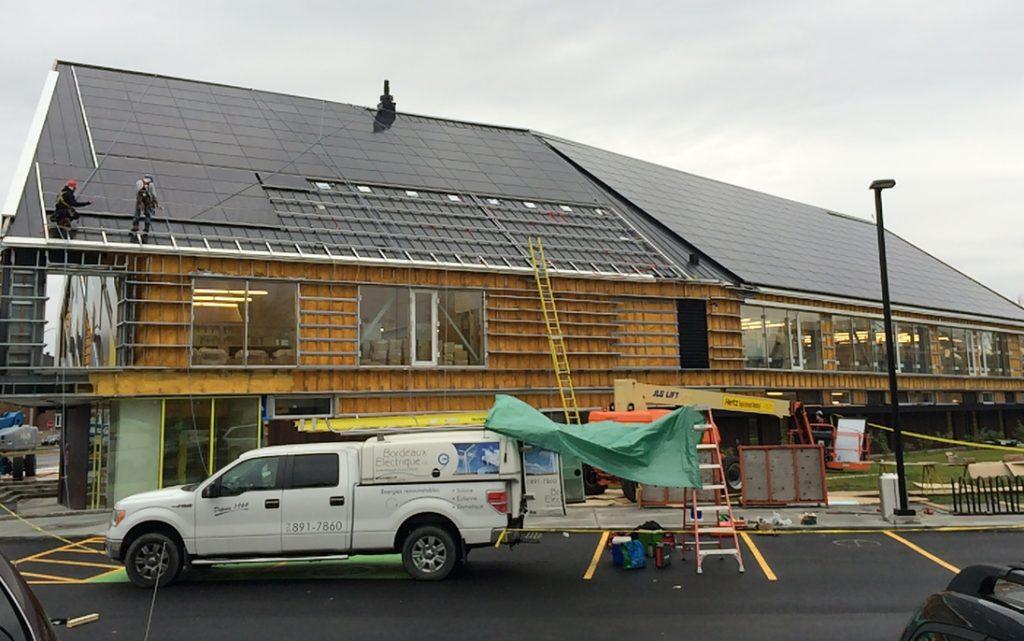 First Net-Zero project in Québec: Varennes Library (100kW)